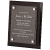 PLAQUE BLACK PIANO FINISH FLOATING ACRYLIC - VERTICAL